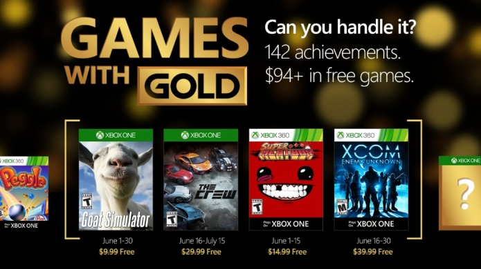 Xbox Games with Gold June Titles Include XCOM, The Crew, and Goat Simulator