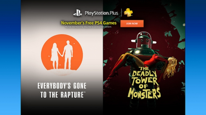Everyone's Gone to Rapture Heads Up November's PS Plus Offerings