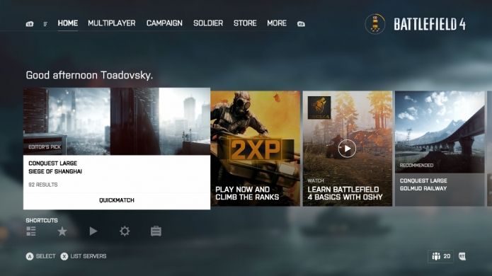 Unified Battlefield UI Rolls Out on Xbox One and PS4
