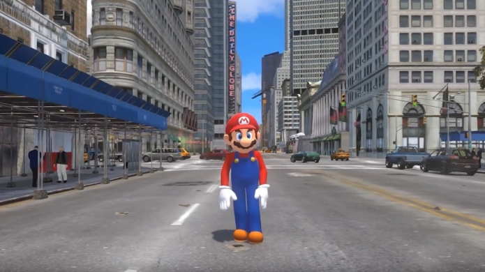 Watch This - The Super Mario Odyssey Trailer Remade In GTA 4