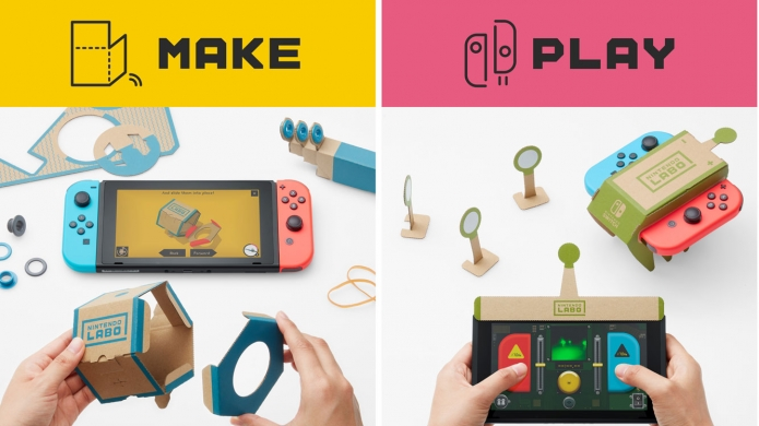 Introducing Nintendo Labo, DIY Cardboard Creation Kits for Nintendo Switch