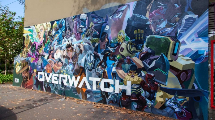 No reason to go out both fallout 4 and overwatch are for Fallout 4 mural