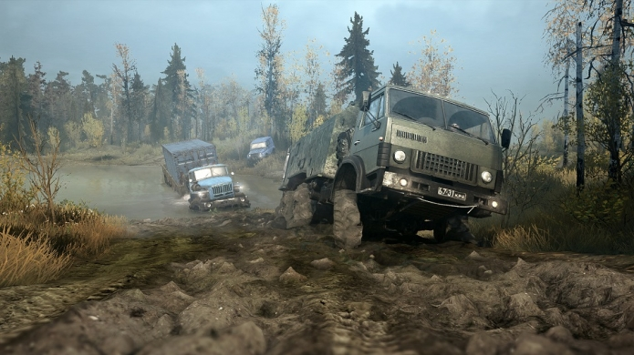 According to Spintires: MudRunner, Driving a Truck Slowly Through Some Mud is the Most. Epic. Thing. Ever.