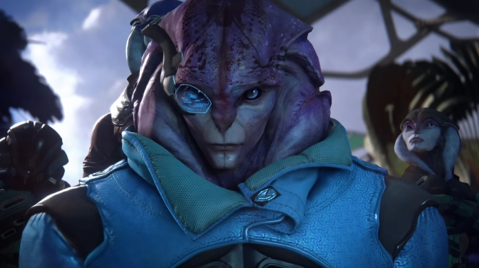 You will find out if Human-Angaran genitals are compatible if you play Mass Effect: Andromeda