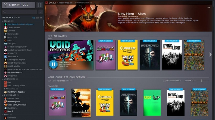 Valve Showcases the New Look Steam Library